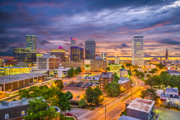 Fototapete - Tulsa, Oklahoma, USA Skyline