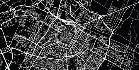 Urban vector city map of Modena, Italy