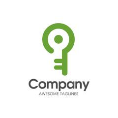 creative smart key logo with modern color vector
