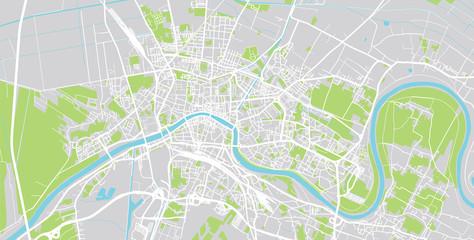Urban vector city map of Pisa, Italy