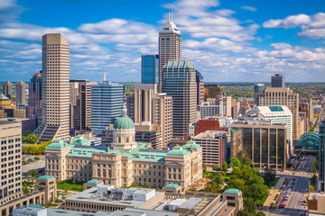 Indianapolis, Indiana, USA Downtown Skyline