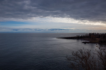 Lake Superior landscape of the water and shore
