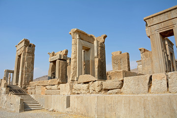 Ruins of the ancient Persian capital city of Persepolis, Iran