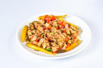 Roasted and Chopped Eggplant Salad