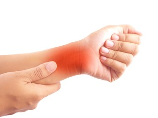 Pain in the wrist. Tendon inflammation.