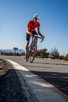 gravel bike on the road