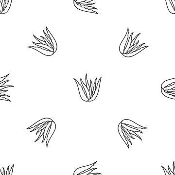 Aloe vera plant pattern seamless vector repeat geometric for any web design