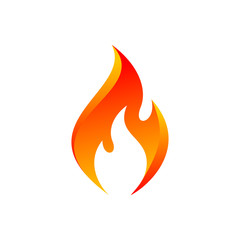 Vector Orange Flame Icon