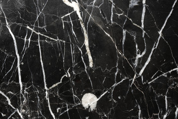 White patterned natural of Marquina black marble texture background for design.