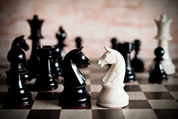 chessboard game for ideas  and business strategy, business planner concept.