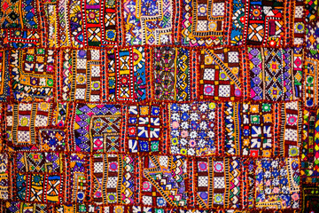 Indian patchwork carpet Fototapete