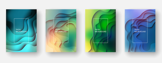 Abstract and modern vector background. Paper cut effect.