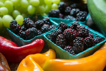 Fresh, organic fruits and vegetables from the Farmer's Market