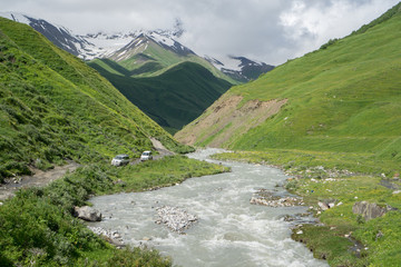 Caucasus Mountains, Georgia.