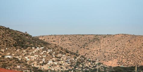 Obraz Panorama of Dire Dawa, Ethiopia and desert. - fototapety do salonu