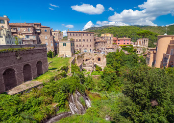 Tivoli (Italy) - The nice little town on the hill in province of Rome, famous for the historical...