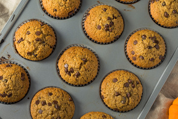 Sweet Homemade Chocolate Pumpkin Muffins