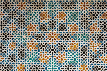 Colourful and Decorative Tiles on the Wall in Seville