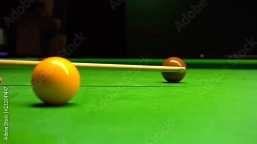 Snooker shot with follow true