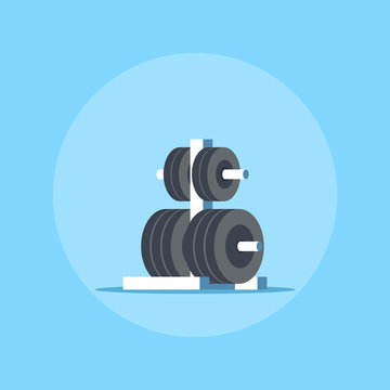 Weights rack for barbell