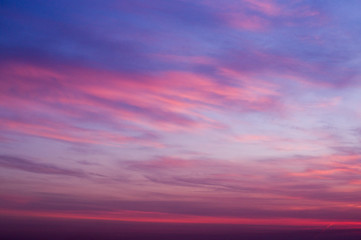 sunrise sky at cold summer morning. background, nature.