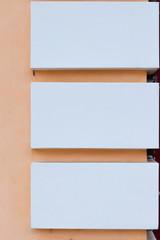 blank billboard on white background