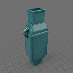 Geometric porcelain vase