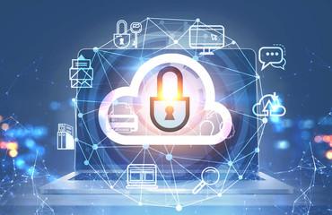 Cloud computer interface, laptop