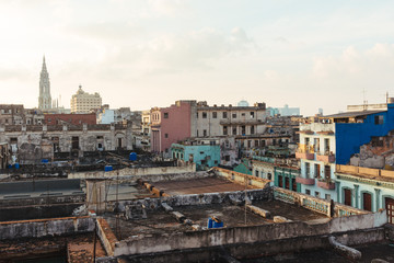 Central Havana at sunset