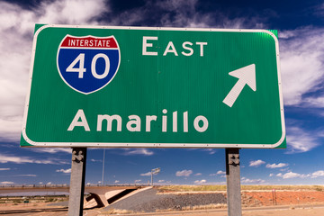 Wall Mural - Interstate 40 to Amarillo Texas on Highway 40