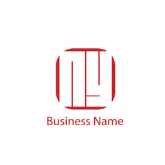 Initial letter NY logo template Design