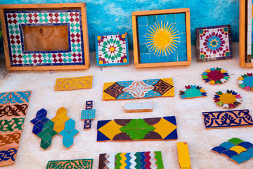 Colorful folk art of the Arab markets