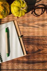 Blank Notebook on a Desk