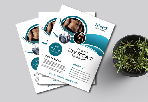 Flyer Layout with Teal Accents