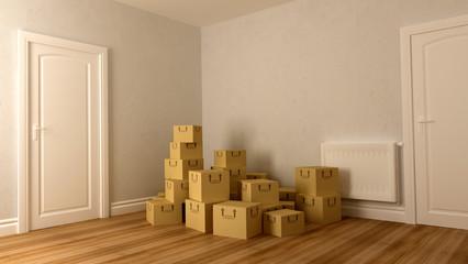 cardboard on floor