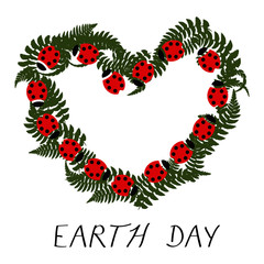 Earth Day Ladybug Heart