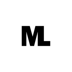 Initial Letter ML Isolated Logo Black. Template logo for business. Ready to use