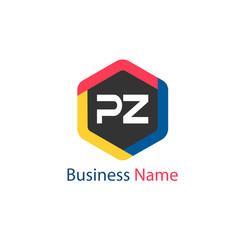 Initial Letter PZ Logo Template Design
