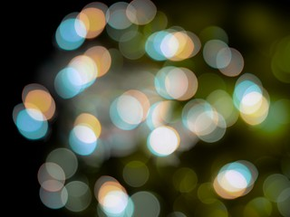 Soft glowing bright abstract white blue and orange lights blur background