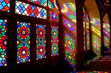 Nasir-ol-Molk Mosque, the so-called Pink Mosque, Shiraz, Iran