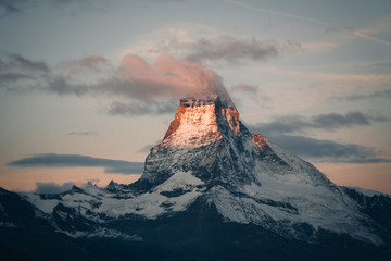 Clouds covering Matterhorn peak, Switzerland