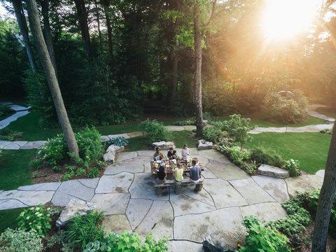 Outdoor summer dinner party