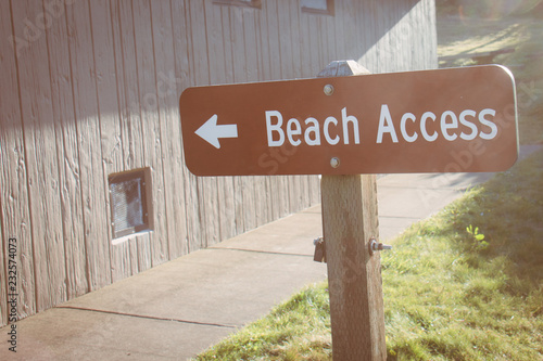 Sign showing the way to Beach Access  Sunflare, taken during