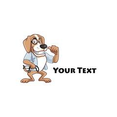 Dog Doctor Logo Veterinary Cartoon Mascot