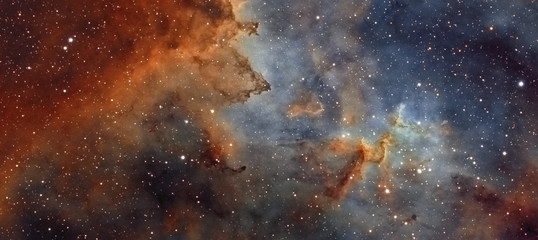 The middle of the Heart nebula in the constellation of Cassiopeia