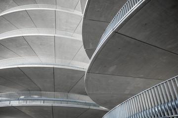 Grey spiral building