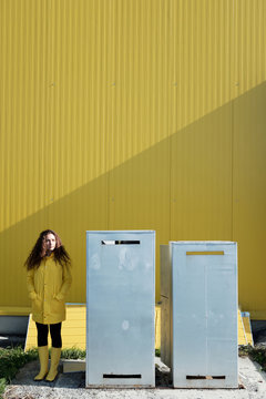 Exceptional girl in yellow