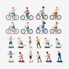 group of people practicing sports