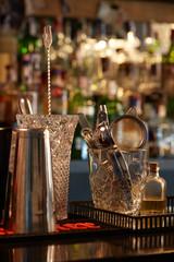 set bar accessories for cocktails
