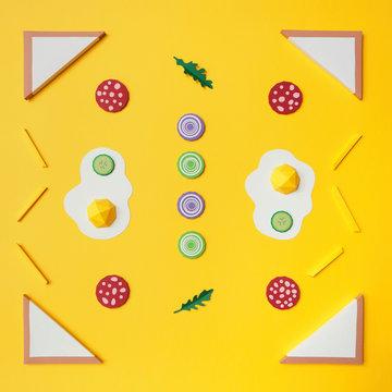 Frame background of scrambled eggs